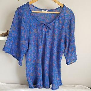 Alchemy Recycled Silk Flutter Sleeve Blouse XL